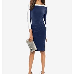 Ralph Lauren Colorblock Bodycorn Knee High Dress